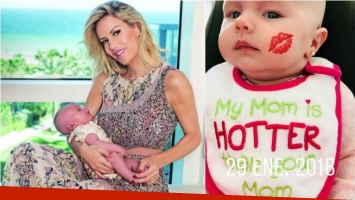Luciana Salazar compartió una foto de Matilda... ¡con una pícara frase en su babero!: Mi mamá está más buena que...