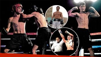 Mateo, el hijo de Luciano Castro debutó victorioso en como boxeador. (Foto: revista Gente)
