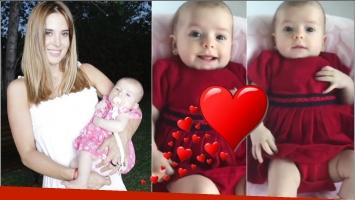 El tierno video de Jésica Cirio con Chloé, su beba de casi 3 meses (Fotos: Instagram y Captura de video de Instagram)