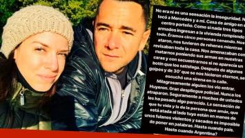 Mercedes Funes y Cecilio Flematti sufrieron un violento robo