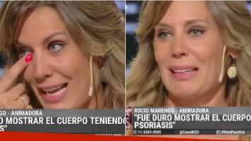 El desconsolado llanto de Rocío Marengo al hablar del comienzo de su enfermedad (Fotos: Capturas)