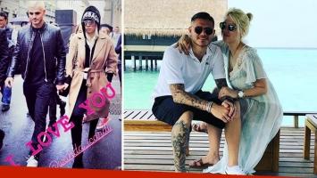 Mauro Icardi y Wanda Nara, más unidos que nunca. Foto: Instagram.