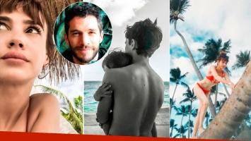 Las vacaciones playeras de Celeste Cid con sus hijos y Michel Noher en Punta Cana: lomazo en bikini y mucho amor