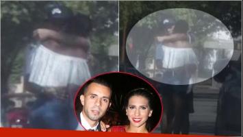 La triste despedida de Matías Defederico y Cinthia Fernández en Carlos Paz (Fotos: Capturas)