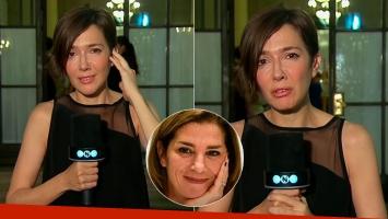 Cristina Perez en el velatorio de Débora Pérez Volpin en la Legislatura porteña