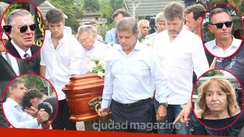 Las imágenes del doloroso último adiós a Débora Pérez Volpin en el cementerio de La Chacarita