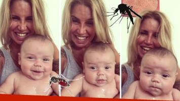 Florencia Peña mostró cómo los mosquitos picaron a su bebé