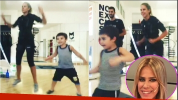El divertido video de Marcela Baños entrenando con su sobrino (Fotos: Capturas de video de Instagram y Web)