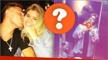 Morena Rial y un detalle romántico en su celular pensado en su novio (Fotos: Instagram y Captura de Instagram Stories)