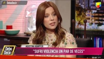 Agustina Kämpfer reveló haber sido víctima de violencia de género por parte de una expareja (Foto: Captura)