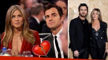 Se separaron Jennifer Aniston y Justin Theroux, tras dos años y medio de matrimonio