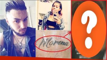 Martín Casar se tapó el tatuaje con el nombre de Morena Rial y publicó un picante frase (Fotos: Instagram e Instagram Stories)