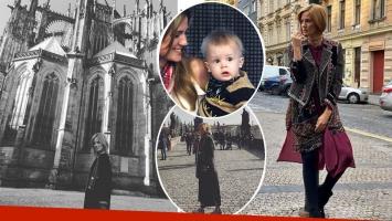 Paula Chaves viajó a Praga para hacer una campaña publicitaria: mirá las fotos