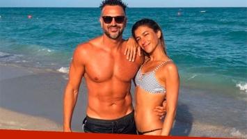 El descanso playero de Leo Montero y su mujer, Malu Tedesco: amor y lomazos en el mar