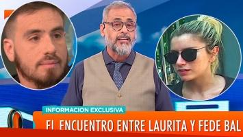 Qué pasó en la reunión privada de Fede Bal y Laurita Fernández