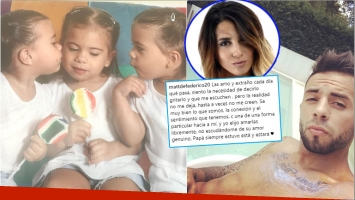 El fuerte mensaje de Matías Defederico a sus hijas tras separarse de Cinthia Fernández (Fotos: Instagram)