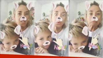 Jimena Barón le preguntó a su hijo si este fin de semana podía salir con un chico (Fotos: Capturas de video de Instagram Stories)