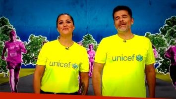 Maju Lozano y Julián Weich, juntos en la Carrera Unicef por la Educación