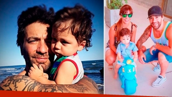 Gustavo Conti le dedicó un tatuaje a su hijo