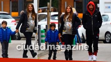 Las fotos de Messi y Roccuzzo, con su hijo en Barcelona (Fotos: Grosby Group)