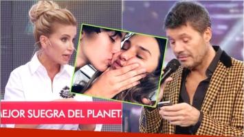 Flor Peña deschavó a Tinelli en vivo y Marcelo le contestó por Twitter (Fotos: Captura y Web)