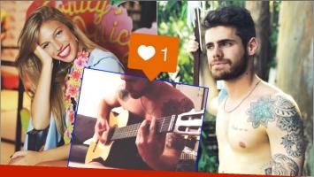 El comentario buena onda de Stefanía Roitman a un video de Gastón Soffritti tocando la guitarra (Fotos: Instagram y Captura de video de Instagram)