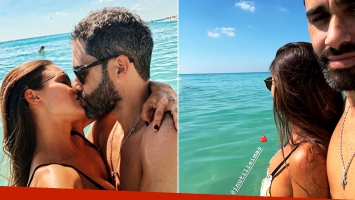Pollo Álvarez, con su novia, Tefi Russo, en Miami