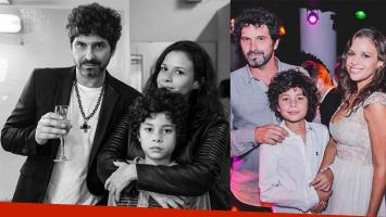 Iván Noble festejó sus 50 años junto a su hijo Benito y Julieta Ortega. Foto: Instagram