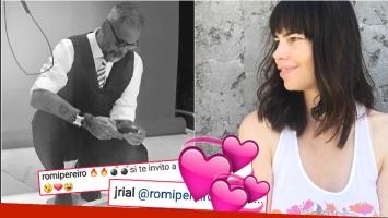 El divertido juego de seducción de Romina Pereiro con Rial (Fotos: Instagram)
