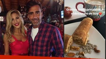 Fede Hoppe agradeció el desayuno de rey que le hizo Maca Rinaldi. Foto: Instagram