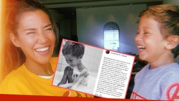 Jimena Barón, feliz por el cumpleaños de su hijo.