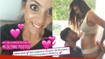 Belu Lucius está embarazada de 4 meses junto a su novio Javier Ortega Desio (Fotos: Instagram y Captura de Instagram Stories)