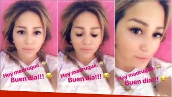 El video de La Princesita Karina recién despierta y desde la cama (Fotos: Capturas de video de Instagram Stories)