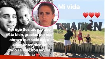 El nostálgico mensaje de Matías Defederico junto a una de sus hijas (Fotos: Capturas de Instagram Stories)