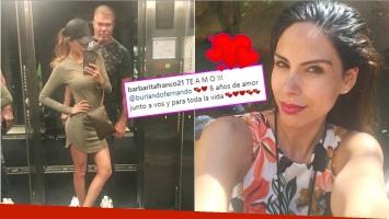 La declaración de Barby Franco a Burlando en su aniversario de novios (Fotos: Instagram)