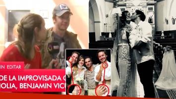 Benjamín Vicuña habló del rumor de boda con la China Suárez