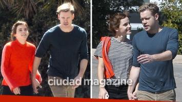 Emma Watson y Chord Overstreet dieron un romántico paseo por Los Ángeles. (Foto: Grosby Group)