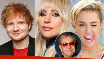 Ed Sheeran, Lady Gaga y Miley Cyrus, juntos en un disco con temas de Elton John