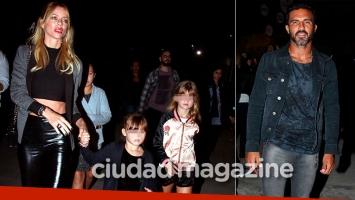 Nicole Neumann y Fabián Cubero coincidieron en un evento (Fotos: Movilpress)