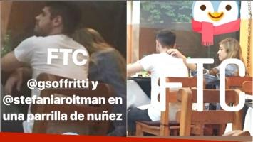 Gastón Soffritti y Stefanía Roitman, juntos en un restaurante (Fotos: Captura de Instagram Stories)