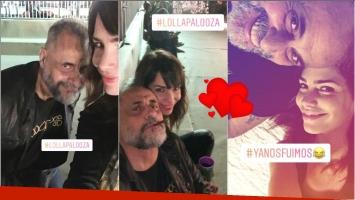 Jorge Rial y Romina Pereiro disfrutaron de una noche a pura música (Fotos: Capturas de Instagram Stories)