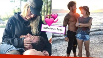 La romántica foto de Fede Bal y Laurita Fernández tras confirmarse su tercera reconciliación (Fotos: Instagram)