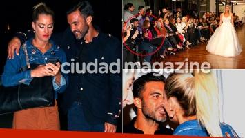 Fabián Cubero acompañó a Mica Viciconte a un desfile (Fotos: Movilpress)
