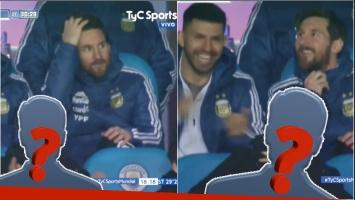 Gastón Pauls, espectador de lujo en el partido Argentina-Italia junto a Messi (Fotos: Capturas)