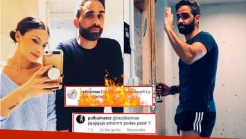 El Pollo Álvarez publicó una sugerente foto... ¡y su novia le dedicó un delator piropo hot!