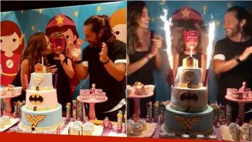 El divertido cumpleaños de Nina, la hija de Diego Torres y Débora Bello