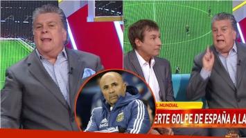 Luis Ventura se descargó en vivo por la derrota de Argentina con España: Sampaoli es un pelotu...