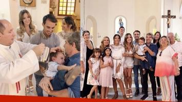 Lourdes Sánchez y el Chato Prada bautizaron a Valentín: ¡mirá las fotos!