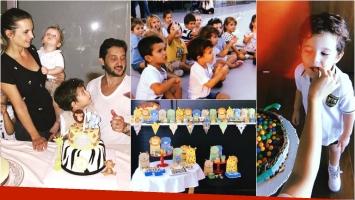 Sabrina Garciarena y Germán Paoloski festejaron los 4 años de su hijo León (Fotos: Instagram)