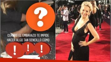 Las dificultades de Luisana Lopilato con su panza de 6 meses (Fotos: Instagram y Captura de video de Instagram Stories)
